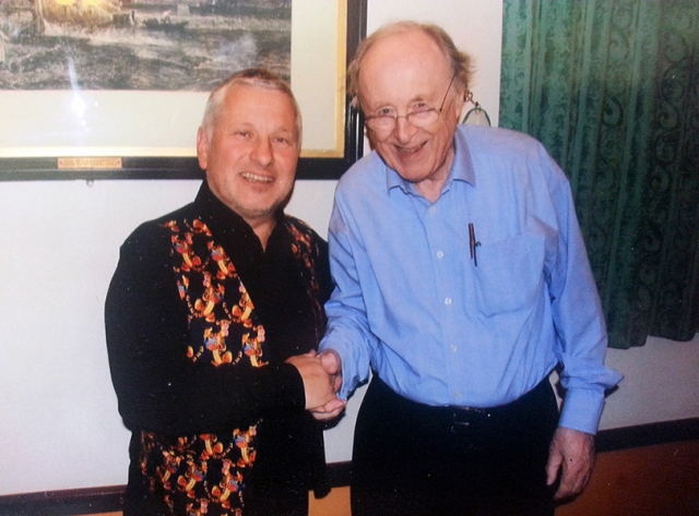 Meeting jazz legend Chris Barber 2014