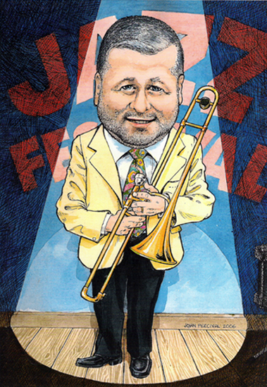 Richard caricature by John Percival